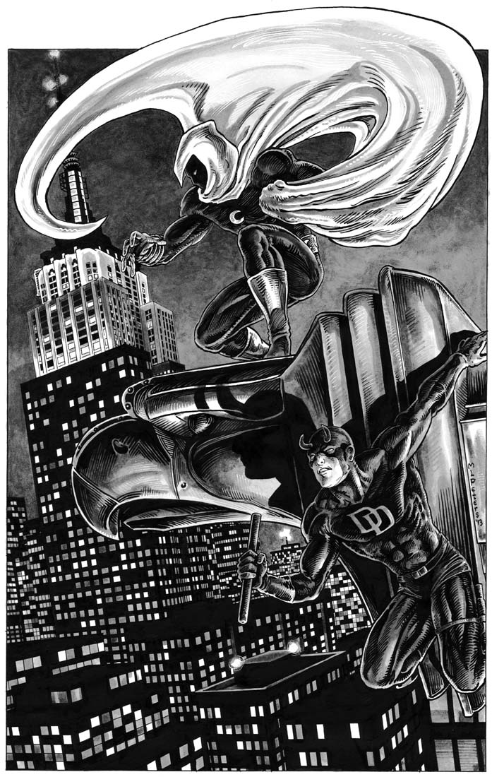Moon Knight & Daredevil Commission